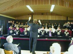 Photo gallery handbell festival in Wiedensahl, Germany, March 2002